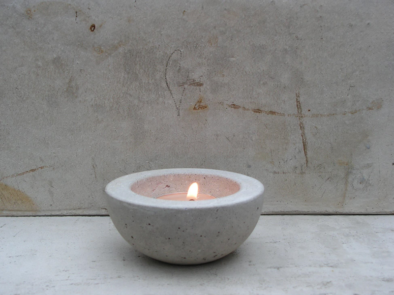 Rough Fusion, Concrete Tea light holder